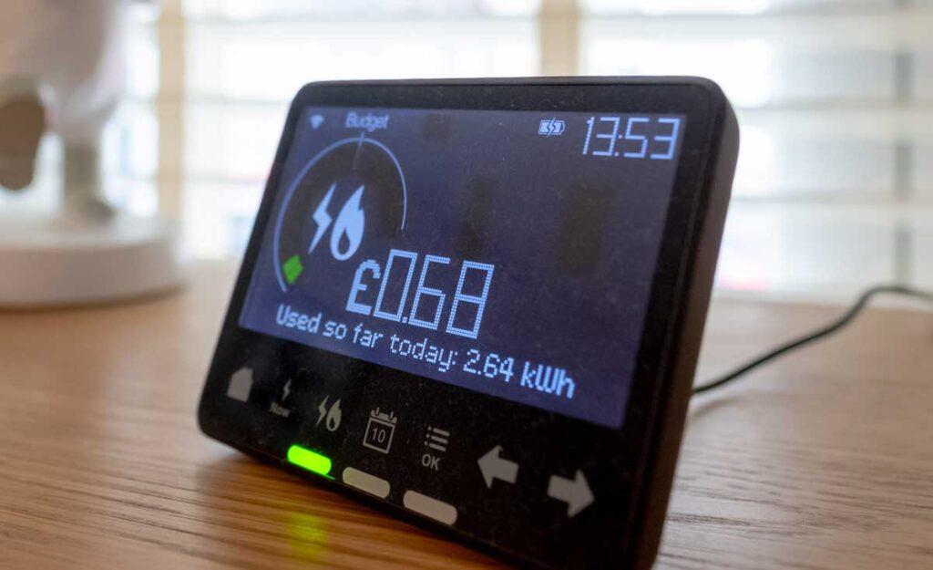 A smart meter in home display